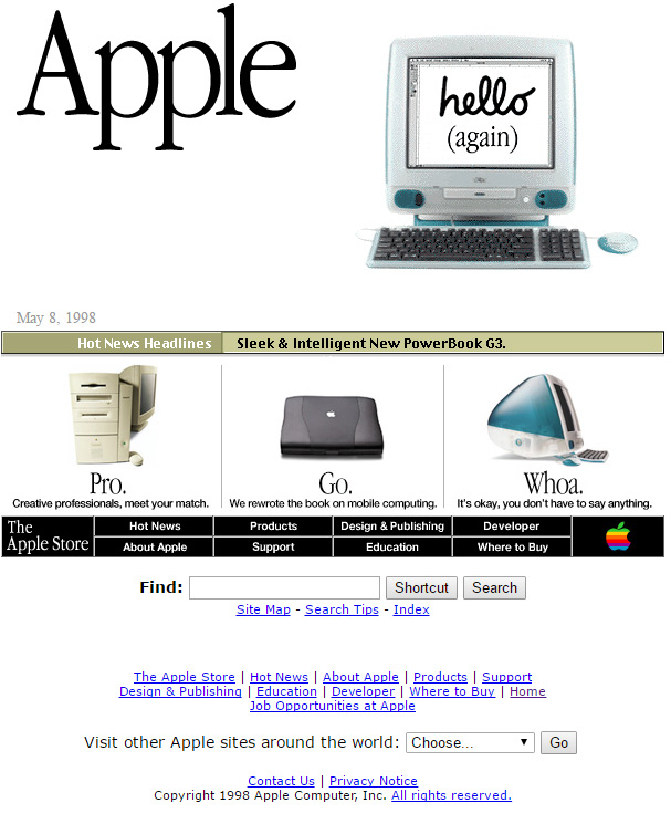 Apple.com May 8, 1998