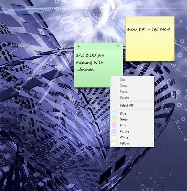 Change Sticky Note Color